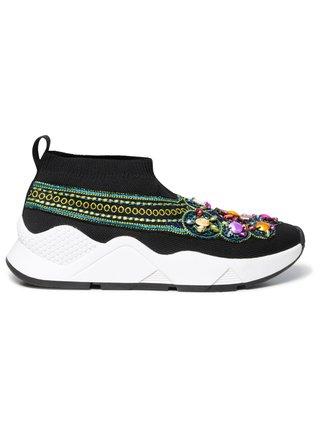 Desigual černé ponožkové tenisky Shoes Sock Beads