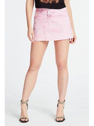 Guess ružová denimová sukňa