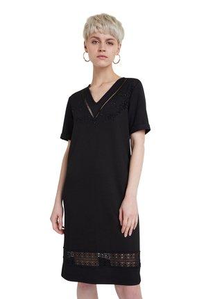 Desigual černé šaty Vest Lisa