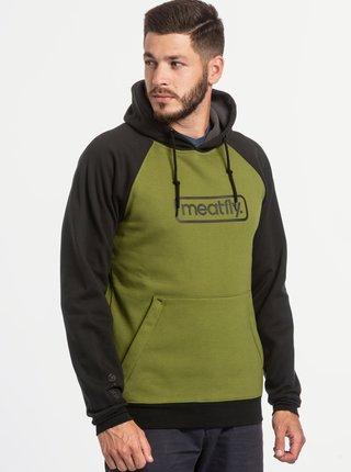 Pulovere cu gluga pentru barbati MEATFLY - verde