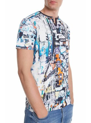 Desigual barevné pánské tričko TS Jules