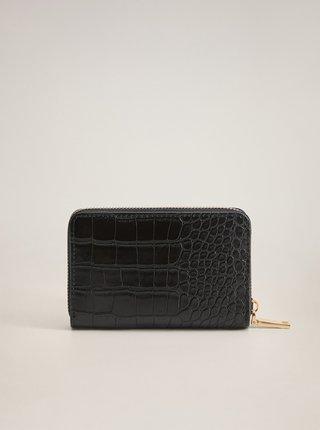 Černá peněženka s krokodýlím vzorem Mango