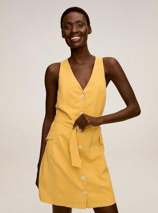 Žluté šaty Mango
