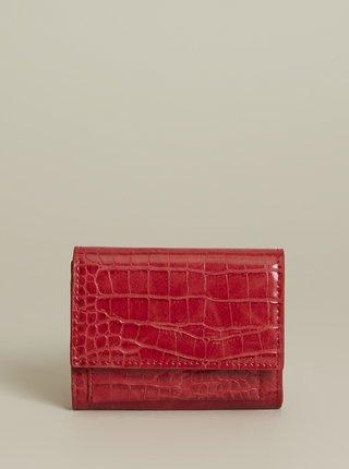 Červená peněženka s krokodýlím vzorem Mango