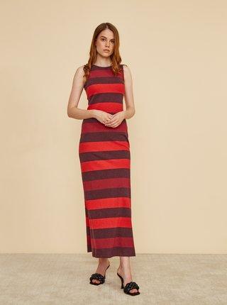Vínovo-červené pruhované šaty ZOOT Baseline Cindy