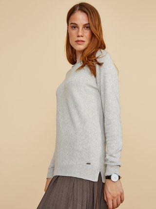 Šedý dámsky basic sveter ZOOT Baseline Ema