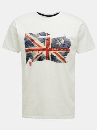 Biele pánske tričko Pepe Jeans