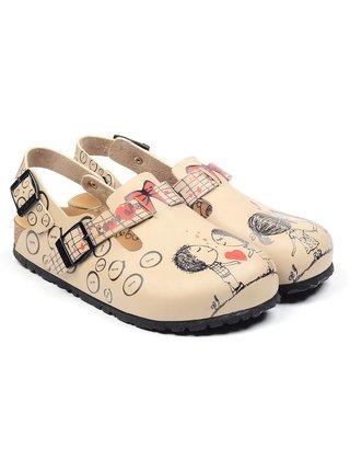Calceo smetanové/krémové sandály Classic Sandals Love