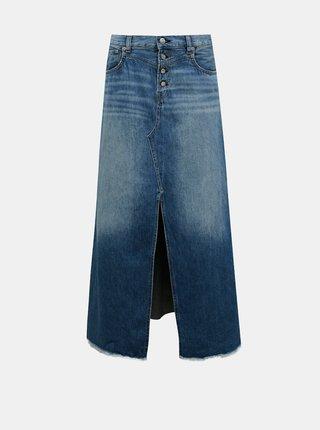 Modrá džínová midi sukně Pepe Jeans