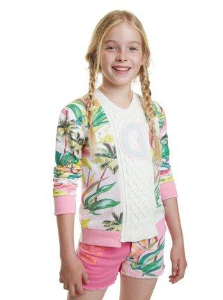 Desigual farebný dievčenský sveter Jers Anaximandro