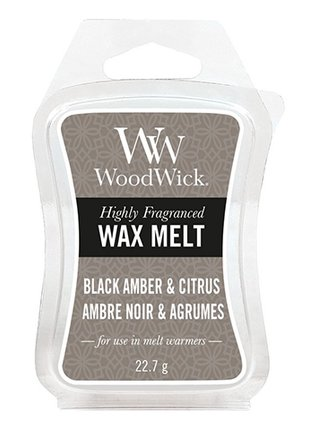 WoodWick vonný vosk do aroma lampy Black Amber & Citrus