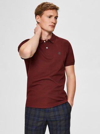 Tricouri polo pentru barbati Selected Homme - bordo