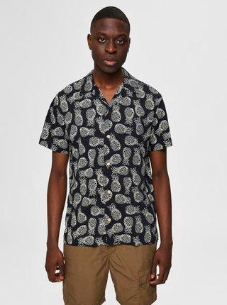 Čierna vzorovaná košeľa Selected Homme Mildas