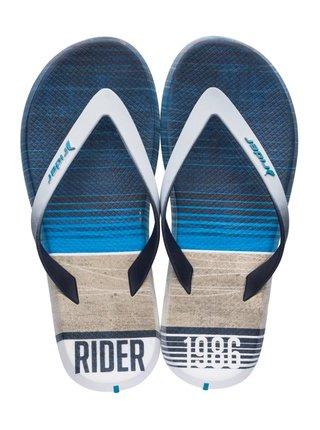 Rider modré pánske žabky R1 Energy Ad White/Blue