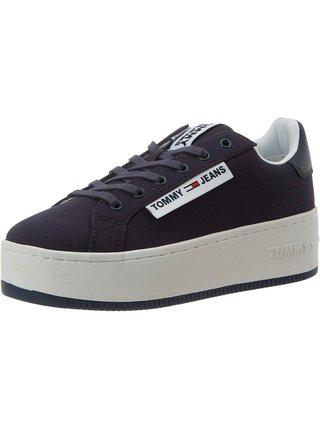 Tommy Hilfiger tmavě modré tenisky na platformě Oversized Label Icon Sneaker