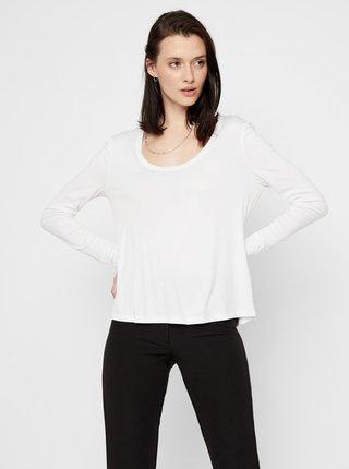 Bílé basic tričko Pieces Kaitlin