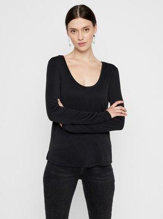 Čierne basic tričko Pieces Kaitlin