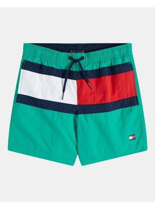 Tommy Hilfiger chlapecké zelené plavky Medium Drawstring Calypso Green