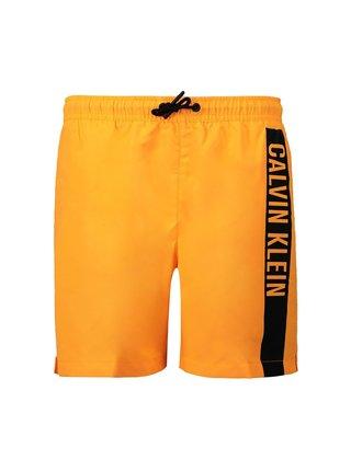 Calvin Klein oranžové chlapecké plavky Medium Drawstring