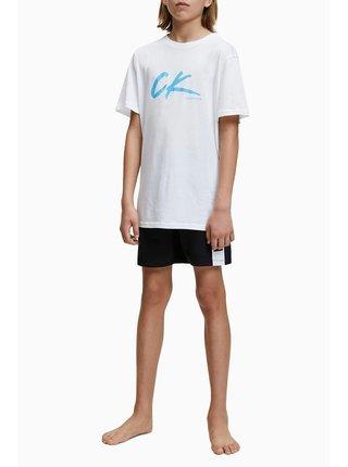 Calvin Klein biele chlapčenské tričko Tee