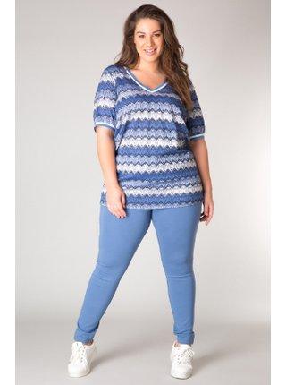 Yesta modré pruhované dámské tričko Jeena