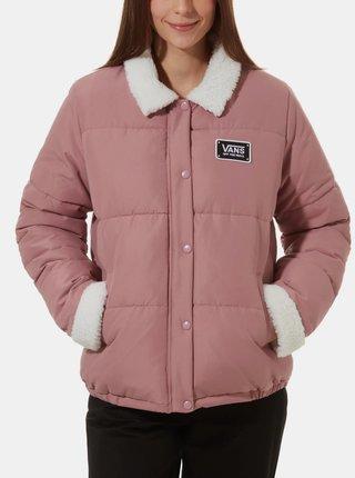 Růžová dámská zimní bunda VANS