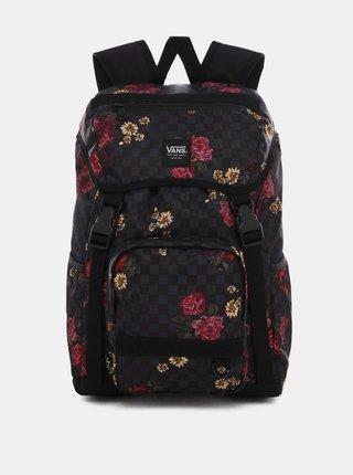 Černý květovaný batoh VANS 22 l