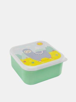 Zelený svačinový box Sass & Belle