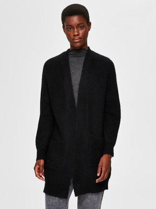 Čierny vlnený kardigan Selected Femme Lulu
