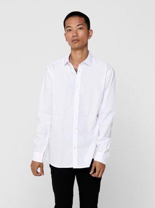 Bílá košile ONLY & SONS Sane
