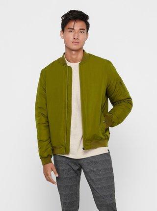 Jachete subtire pentru barbati ONLY & SONS - verde