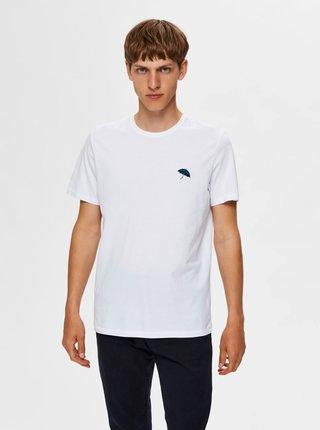 Bílé tričko Selected Homme Astor