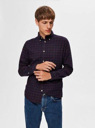 Modro-vínová kostkovaná košile Selected Homme Flannel