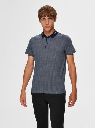 Modré polo tričko Selected Homme Avenue
