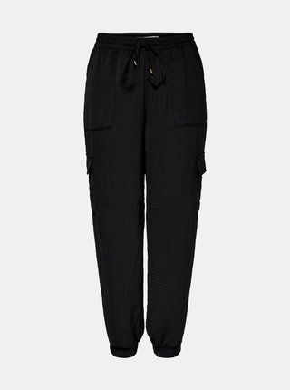 Čierne cargo nohavice ONLY Sonja