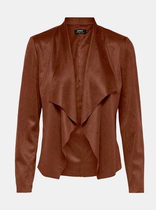 Jachete din piele naturala si sintetica pentru femei ONLY - maro
