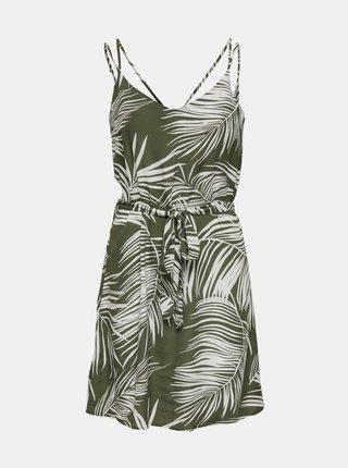 Kaki vzorované šaty ONLY Augustina