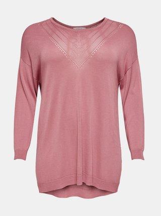 Růžový lehký svetr ONLY CARMAKOMA Cath