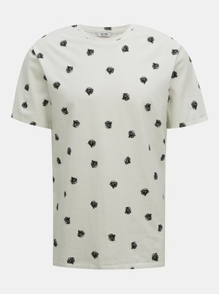 Bílé vzorované tričko ONLY & SONS Matter