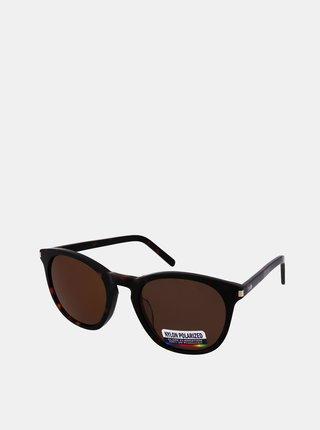 Tmavohnedé slnečné okuliare Crullé
