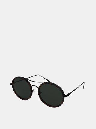 Hnedé vzorované slnečné okuliare Crullé