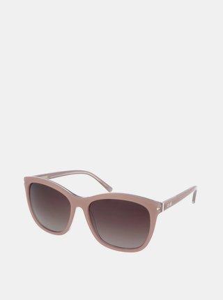 Starorůžové dámské sluneční brýle Crullé