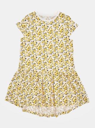 Ružovo-žlté kvetované dievčenské šaty name it Vigga