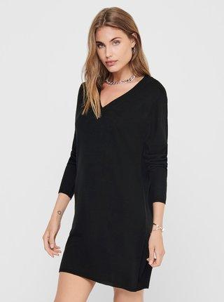 Čierne svetrové šaty Jacqueline de Yong Zoe