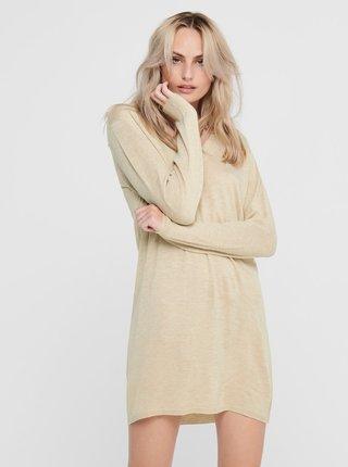 Béžové svetrové šaty Jacqueline de Yong Zoe