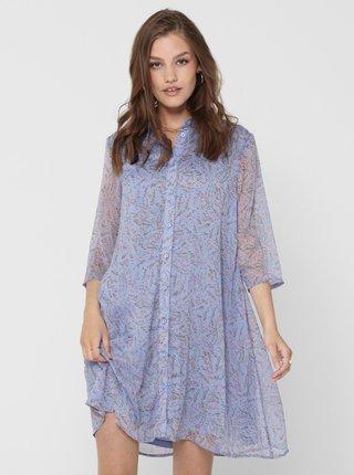 Modré vzorované košilové šaty Jacqueline de Yong Nelly