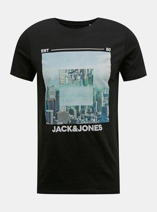 Černé tričko Jack & Jones Barista