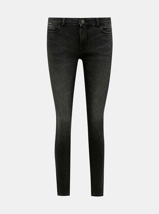 Tmavě šedé skinny fit džíny Jacqueline de Yong New Nikki