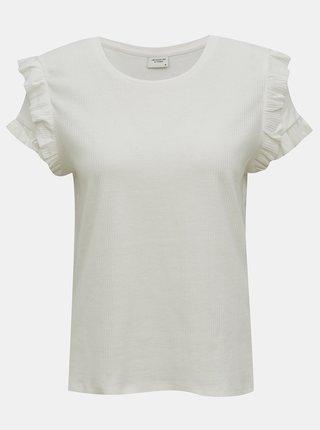 Bílé tričko s volány Jacqueline de Yong Fappa