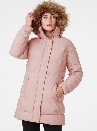 Ružová dámska prešívaná zimná bunda HELLY HANSEN